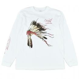 [WINGROCK] ウォーボンネット L/S TEE white