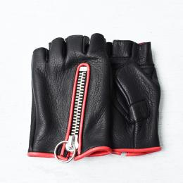 TYPE-TERRY FingerLess for summer Black-Red